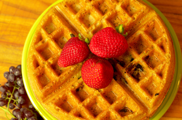 LIght Whole Wheat Waffles